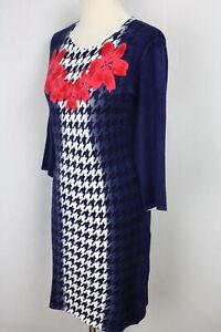 Damen Strickkleid Kleid Figurschmeichler Blumen Glitzer  OVANTI Gr.40,44,48