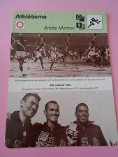 Athlétisme Bobby Morrow né à Harlingen au Texas Fiche Card 1977