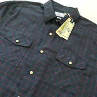 Nwt Southern Tide $110 Classic Fit Brushed Twill Snap Up Chimney Workshirt Shirt