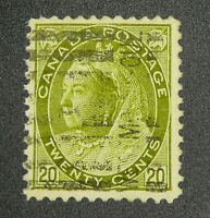 *Kengo* Canada stamp #84 Queen Victoria 20c used CV$160 @263