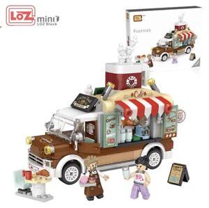 LOZ Mini Blocks Bricks Coffee Food Truck Flea Market USA (No box)