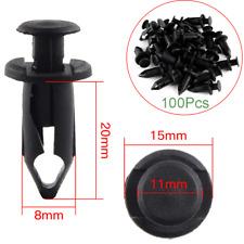 100x Plastic Fasteners 8mm Push Pin Rivet ATV Fairing Body Fender Retainer Clips