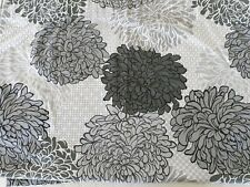 Hillcrest Fabric Shower Curtain Gray White Floral 70x70 Neutral Cloth