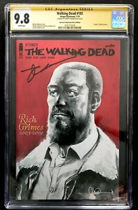 THE WALKING DEAD #192 CGC 9.8 SS Death of Rick Grimes Signed by Robert Kirkman
