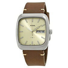 Fossil Rutherford Cream Dial Brown Leather Watch FS5329