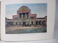 PERSE/Gravure 19°in folio couleur/téhéran:porte du palais du Schah