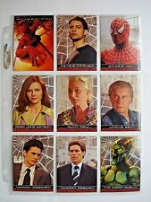 2002 TOPPS *SPIDER-MAN THE MOVIE* MASTER SET 100/10/5/5/5 + PROMO + WRAPPERS