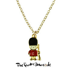 Quirky Novelty British London Soldier Vintage Tfb - Royal Guard Necklace Funky