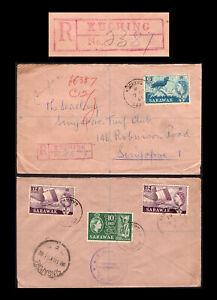 Malaya/Malaysia Sarawak 1961 registered cover, Kuching to Singapore.