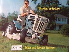 Sears Suburban Custom Lawn Garden Tractor 1969 COLOR Sales Brochure Riding Mower
