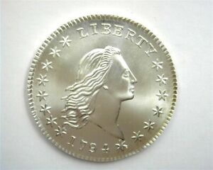 1794 ~ SILVER GALLERY MINT COPY~ 50 CENTS PERFECT UNCIRCULATED LETTERED EDGE
