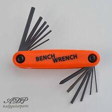 GUITAR TECH TOOL BENCH WRENCH ALLEN 5xMetric 5xInch MultiOutils LUTHIER  LT-4204