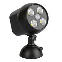 NICREW 600-Lumen Outdoor LED Security Light, Battery Powered Wireless Motion Sen
