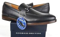 Giorgio Brutini Men's Sullivan Moc Toe Slip On Shoe 177161 Black- Mens Sz 11M US