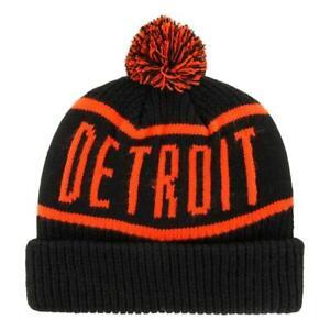 47 Brand Calgary Detroit Tigers Beanie - Black NEW
