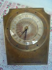 Rare Vintage Trissot Jewelers Table Top Advertising World Navigator Clock