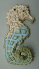 Glazed Seahorse Art Pottery with Hole for Hanging