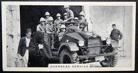 British Army Motor Patrol    Palestine   Vintage 1930's Photo Card  # VGC