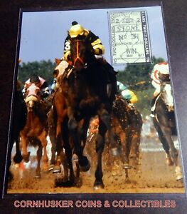 1977 SEATTLE SLEW 8 X 10 WIN PHOTO PLUS MINT KD $2 WIN UN-CASHED TICKET 🐴