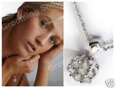 Designer White GoldDiamond   Pendant Natural Diamonds Large 1 ONE Carat F G VS2