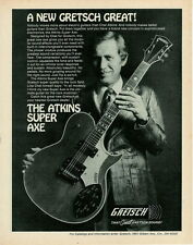 1978 THE LATE LEGENDARY GUITARIST CHET ATKINS IN A GRETSCH GUITAR AD