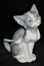 Lladro 5113 Cat Kitten Figurine Gray & White, MINT Daisa 1981 Hand Made in Spain