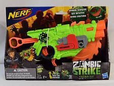 NEW~Nerf Zombie Strike Crosscut Blaster 2-in-1 action W/ Spinning foam saw blade