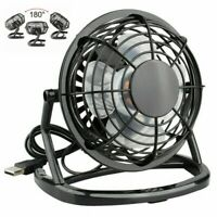 "4"" inch Black Portable Mini Desk Fan Quiet Personal Cooler USB Powered Table Fan"