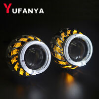 2.5'' Dual LED Angel Eyes H1 HID Bixenon Projector Lens Headlight Retrofit H4 H7