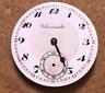 Vintage Chronometre dH Pocket Watch Movement Parts/Repair Swiss Antique