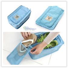 Waterproof Nylon Portable Shoes Storage Organizer Travel Pouch Bag(Blue)
