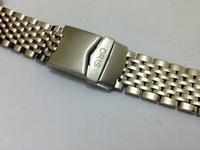 NEW ORIS SPORTS STAINLESS STEEL GENTS WATCH STRAP,CURVED LUG ENDS,22MM,(ORIS-18)