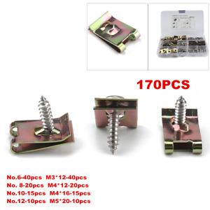 170X Speed Fasteners U Nuts Self Tapping Screw Spire U Clips Interior Trim Panel