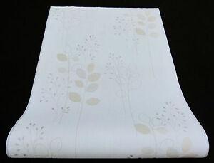 13319-10-6) hochwertige Vliestapete  Design Tapete beige creme silber