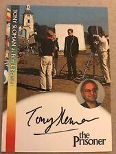 THE PRISONER: AUTOGRAPH CARD: TONY SLOMAN - FILM LIBRARIAN PW1