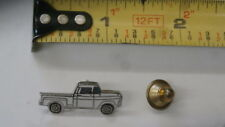 1955-57 Chevrolet Truck vintage hat pin lapel pin tie tac collector button White