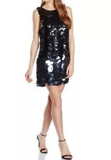 BNWT COAST Size 16 Minstrella Black Cocktail Sequin A Line Prom Party Dress