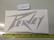 Peavey GOLD Sticker decal Car window music audio records drums guitar laptop