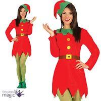 Ladies Adults Christmas Xmas Elf Santa Helper Fancy Dress Costume Festive Outfit