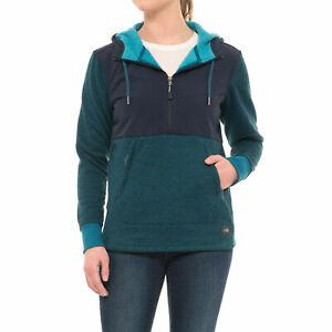 THE NORTH FACE Tech SHERPA PULLOVER 1/2 Zip FLEECE Hood JACKET Coat WOMENS sz XL