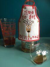 Novelty Bottle Apron Secret Santa Christmas Gift Drink Alcohol Humour Reindeer