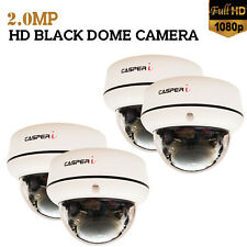CASPERi 2.0MP HD High Resolution CCTV 4x Dome Cameras Package with Night Vision