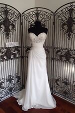938 ALFRED ANGELO COLLECTION 2563 SZ 10 IVORY  CHIFFON WEDDING DRESS   $1286