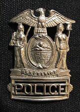Police Badge NYPD Obsolete Vintage Hat type Original New York State Excelsior