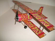 Aluminum soda can handcrafted airplane/SUN DROP CHERRY LEMON  /BI-PLANE