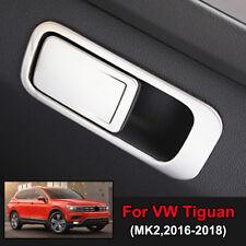 Chrome Storage Box Glove Box Cap Cover Trim For VW Tiguan MK2 2nd Gen 2016-2018