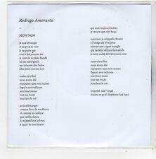 (FN489) Rodrigo Amarante, Mon Nom - 2009 DJ CD