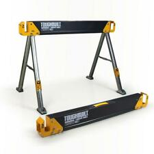 Steel Jobsite Sawhorse Table Material Support Pegs Foldable Folding Carry Handle