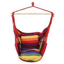 Hammock Hanging Chair Air Deluxe Sky Swing Outdoor/Indoor Chair Solid Wood 265lb