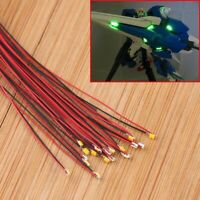 10x 0402 Pre-soldered Micro Litz Wired Leads Warm White 0.28mm SMD LED